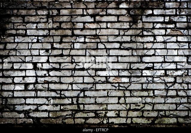 Brick Wall Black And White Graffiti