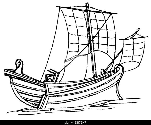 Drawing Sketch Style Illustration Of An Ancient Sea