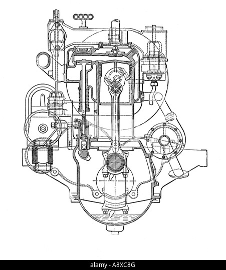 Four Cylinder Engine Stock Photos & Four Cylinder Engine