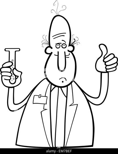 Scientist Lab Researcher Chemist Cartoon Stock Photos