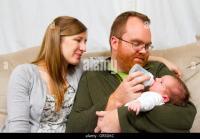 Bottle Feeding Newborn Baby Stock Photos & Bottle Feeding ...