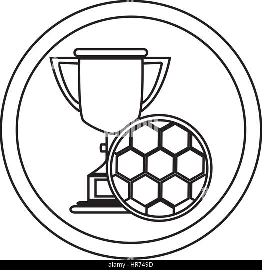 Football Trophy Silhouette Stock Photos & Football Trophy