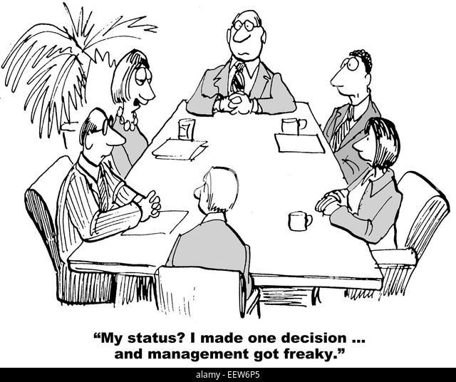 Cartoon Business Team Update Meeting Stock Photos