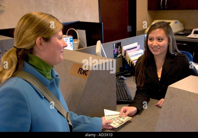 Bank Teller Stock Photos  Bank Teller Stock Images  Alamy