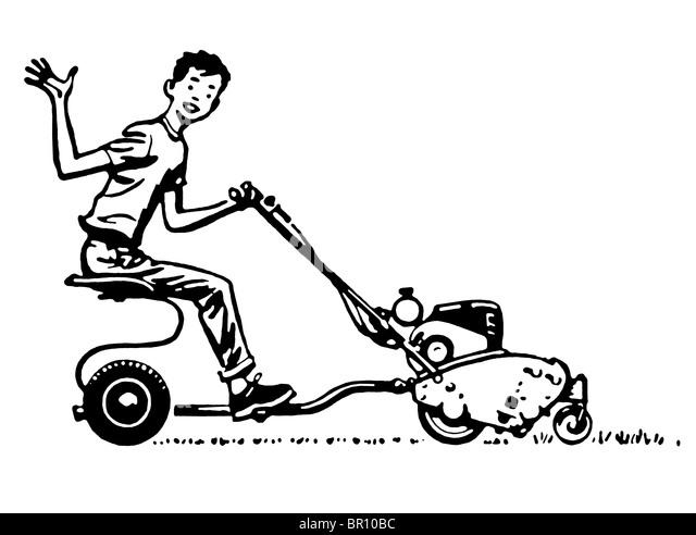 Lawn Mower 1950s Stock Photos & Lawn Mower 1950s Stock