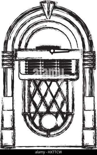 Vintage Jukebox Stock Photos & Vintage Jukebox Stock