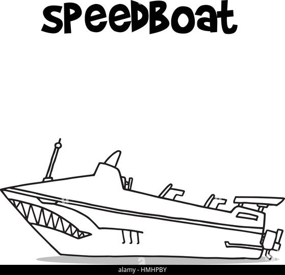 Speed Boat: How To Draw A Speedboat