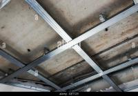 Suspended Ceiling Structure Installation Gypsum Stock ...