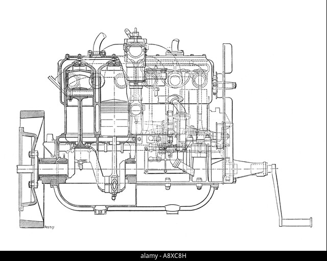Four Cylinder Engine Stock Photos & Four Cylinder Engine