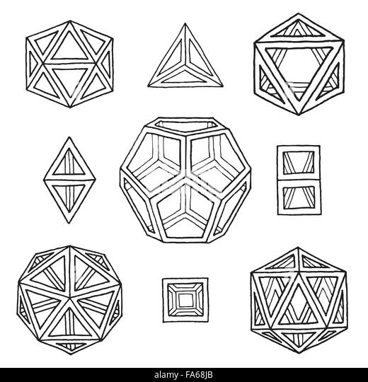 Platonic Solids Stock Photos & Platonic Solids Stock