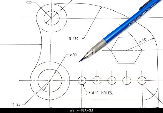 Mechanical Engineer Drafting Stock Photos & Mechanical