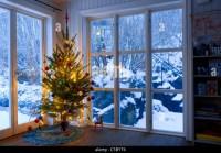 Snow Decorated Christmas Windows Stock Photos & Snow ...