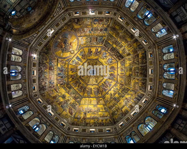 Florence Duomo Ceiling Stock Photos & Florence Duomo