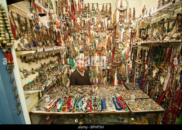Portobello Market London Jewellery Stock Photos