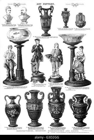 Victorian Pottery Stock Photos & Victorian Pottery Stock