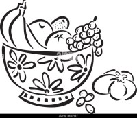 Fruit Bowls Black and White Stock Photos & Images