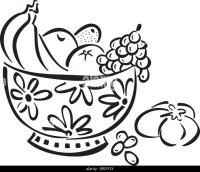 Fruit Bowls Black and White Stock Photos & Images - Alamy