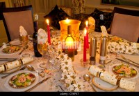 Christmas Dinner Table Setting Stock Photos & Christmas