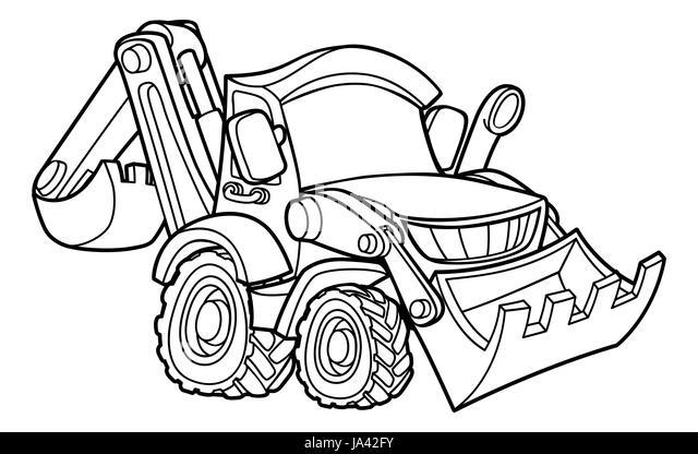 Excavator Stock Vector Illustration Of Equipment