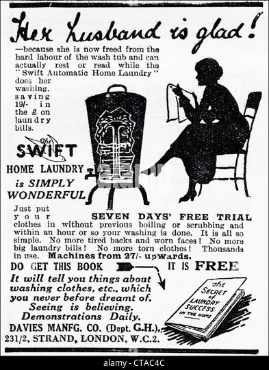 Washing Machine Advertisement Stock Photos & Washing
