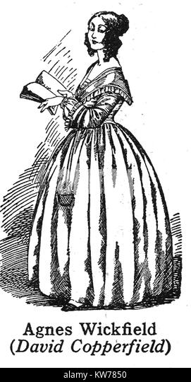 David Copperfield Charles Dickens Illustration Stock