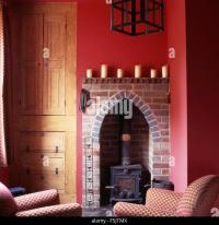 Wood Burning Stoves Fireplace Stock Photos & Wood Burning ...