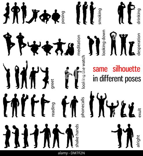 Silhouette People Drinking Vector Stock Photos