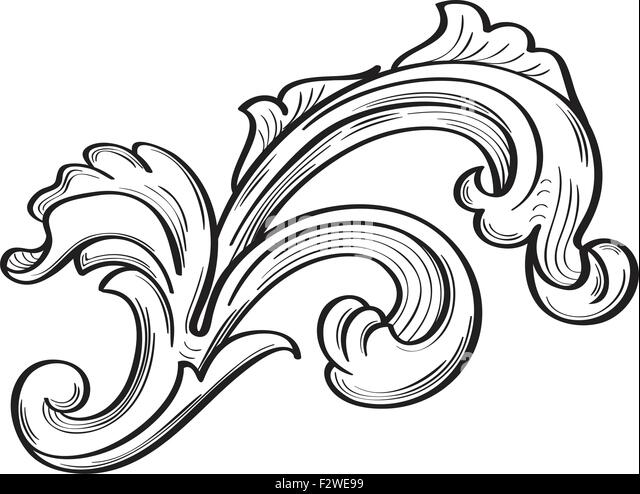 Acanthus Scroll Stock Photos & Acanthus Scroll Stock