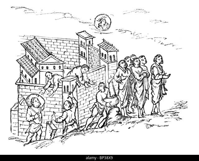 Medieval Manuscript Building Stock Photos & Medieval