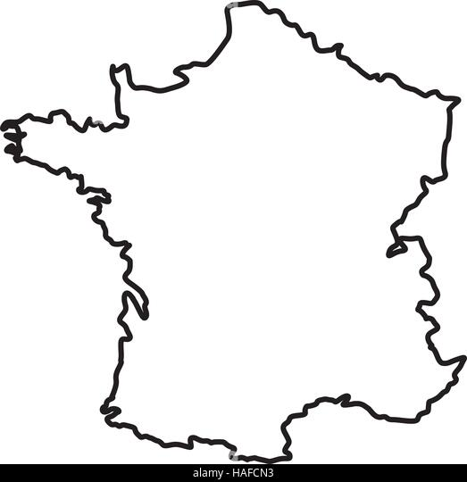 Europe Black And White Map Stock Photos & Europe Black And