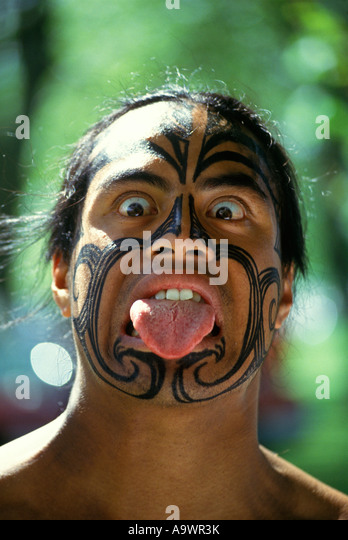 New Zealand Maori Greeting Stock Photos  New Zealand