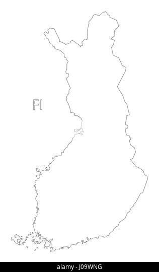 Outline Map Of Finland Stock Photos & Outline Map Of