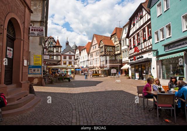 German Town Lohr Am Main Stock Photos & German Town Lohr