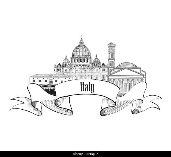 Vintage Travel Poster Italy Stock Photos & Vintage Travel