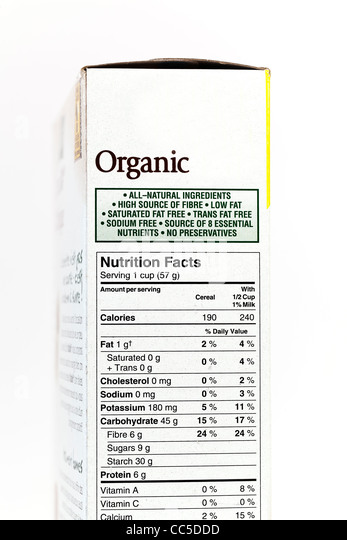 Nutrition Facts Stock Photos & Nutrition Facts Stock