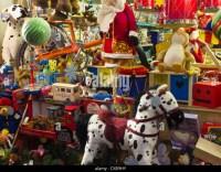 Christmas Toy Shop Window Stock Photos & Christmas Toy