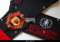 Manchester United Scarf Stock Photos & Manchester United ...