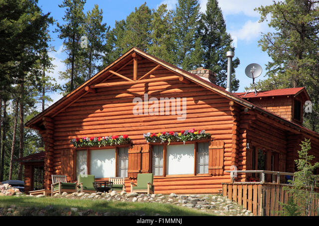 northwest territory chairs kid recliner log cabin canada stock photos & images - alamy