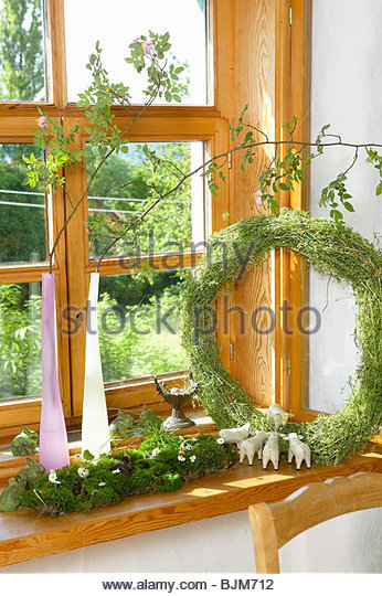 Window Sill Decoration Stock Photos & Window Sill