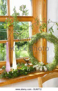 Window Sill Decoration Stock Photos & Window Sill