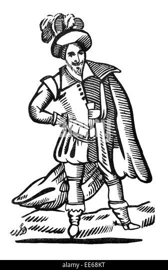 Medieval English Archer Stock Photos & Medieval English