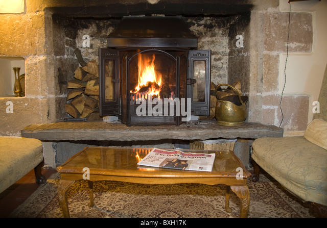 Decorated Christmas Fireplace On A Brick Wall Stock Photo Image Inglenook Fireplace Stock Photos & Inglenook Fireplace