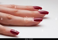 Red Painted Finger Nails Stock Photos & Red Painted Finger ...