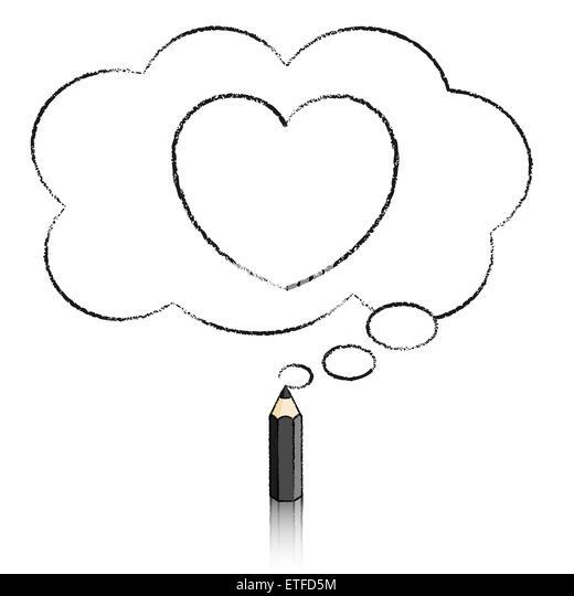 Black Outline Heart Stock Photos & Black Outline Heart
