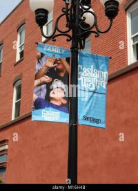 Lamp Post Banner Stock Photos & Lamp Post Banner Stock