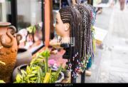 caribbean hairdresser stock