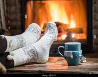 Fireplace Christmas Fire Socks Stock Photos & Fireplace ...