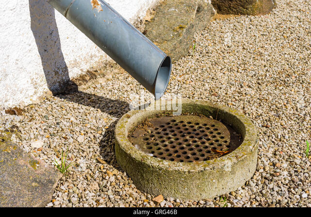 Drain Pipe Gravel Stock Photos & Drain Pipe Gravel Stock