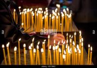 Candles In Greek Orthodox Church Stock Photos & Candles In ...