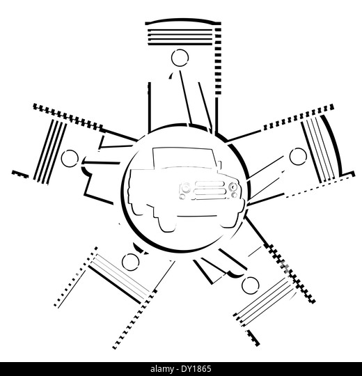Engine Piston Diagram Illustration